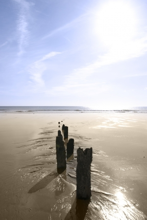 sunshine over the beach breakers in Youghal county Cork Ireland on a summers day Stock Photo - 16926902