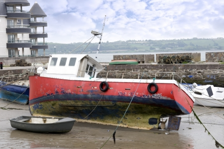 youghal: various fishing boats in the shelter of Youghal harbour county Cork Ireland