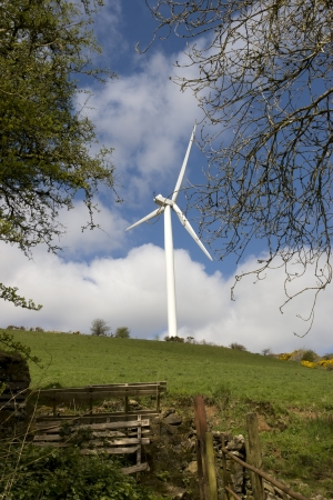 county tipperary: windmill on the hills of Glenough in county Tipperary Ireland Stock Photo