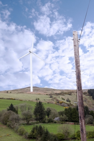 windmill on the hills of Glenough in county Tipperary Ireland photo