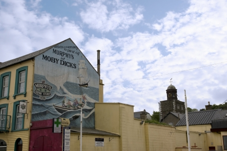 youghal: painted mural on the side of Moby dicks pub in Youghal county Cork Ireland