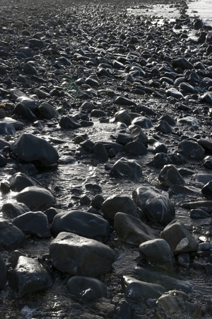 rocky coastline of a county Kerry beach on Irelands west coast photo