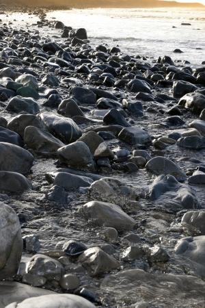 estuary: rocky coastline of a county Kerry beach on Irelands west coast