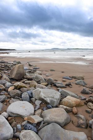 headland: rocky beal beach on the wild atlantic way in county Kerry Ireland Stock Photo