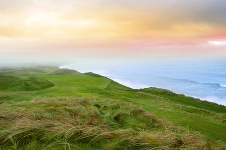 ballybunion: view of the Ballybunion links golf course in county Kerry Ireland