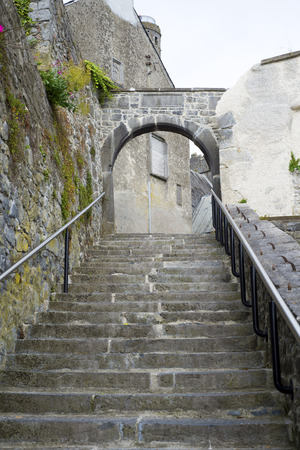 ancient steps in the city of kilkenny in ireland photo