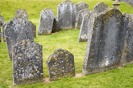gravestones: gravestones at ancient graveyard in St Canices Cathedral in kilkenny city ireland