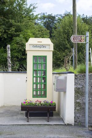 kiosk: old irish telephone kiosk in grange ireland