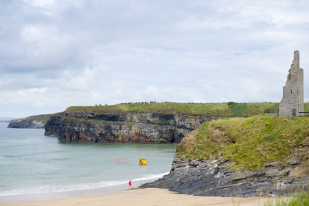 rescue service: Ballybunion Sea & Cliff Rescue Service at ballybunion cliffs castle and beach of  county kerry ireland