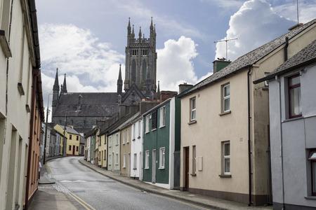 residential street: beautiful residential street scene in kilkenny city ireland