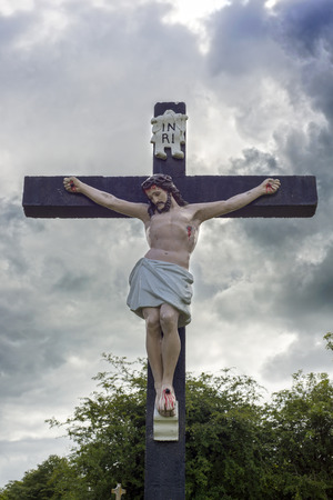 county tipperary: large crucifix in a graveyard in county tipperary ireland