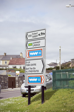 number plate: irish road signs in kerry  car number plate has been altered