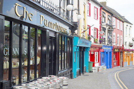 fronts: pubs and retaurant fronts on a kilkenny city high street in ireland