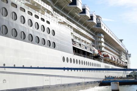 big cork: cruise ship docked at cobh in ireland Stock Photo