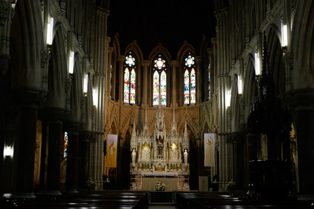 irish easter: interior of  St Colmans Cathedral in cobh county cork ireland