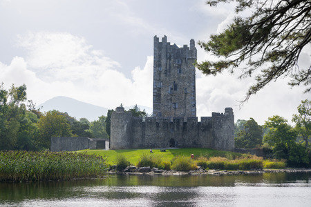 county kerry: ross castle on the lakes of killarney in county kerry ireland