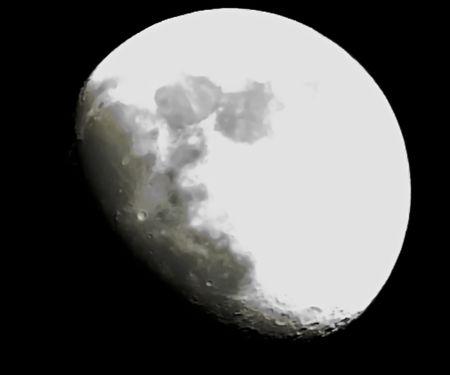 meteorites: large moon Stock Photo