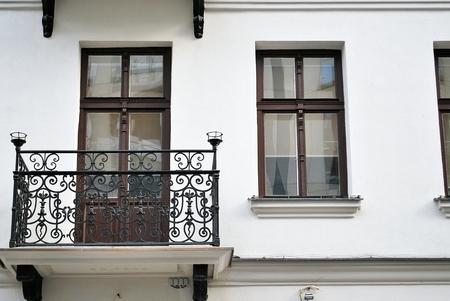decorative balconies: Historic building