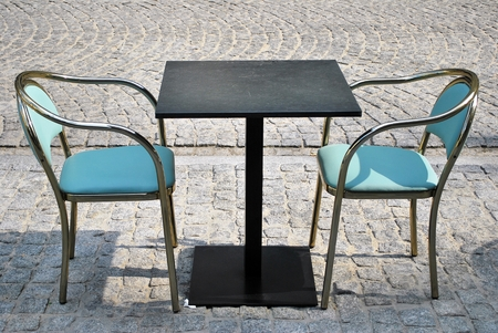 table: restaurant table Stock Photo