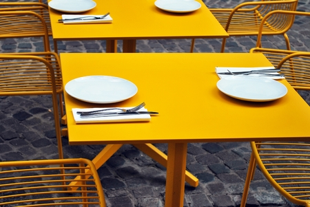 furniture: Restaurant furniture Stock Photo