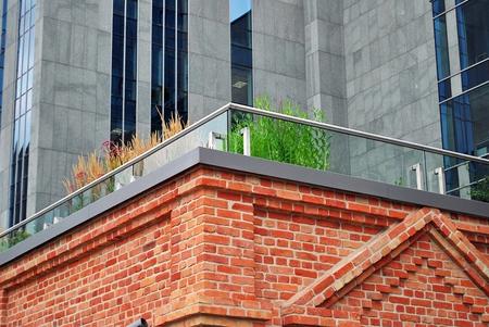 glass brick: glass and brick Stock Photo
