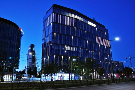 technologically: Warsaw, Poland. 19 July 2016 Proximo is a modern office building combining esthetics and functionality with technologically advanced systems,