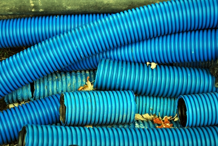 plastic conduit: Blue Curvilinear tubes for industry