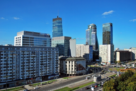 Warsaw, Poland. 26 August 2016. This is a view of Warsaw Downtown.