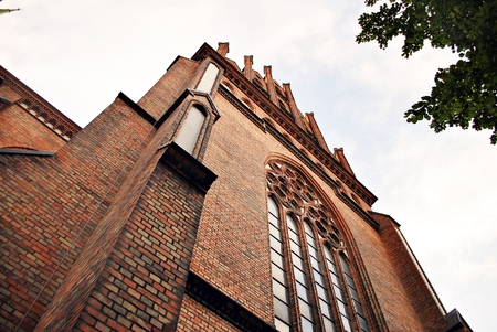 church steeple: gothic church Stock Photo
