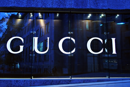 gucci store: Warsaw, Poland. 15 September 2016. Gucci store on September 2016.