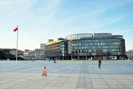 urban idyll: Warsaw, Poland. 16 September 2016 Pilsudski Square