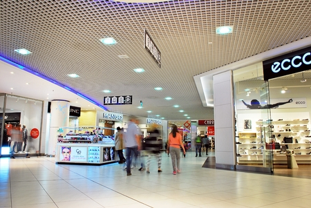 entertainment center: Szczecin, Poland. 1 September 2016. GALAXY Centre is the largest shopping & entertainment center. Editorial