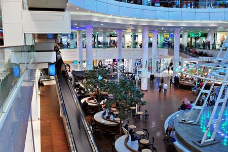 shoping: Szczecin, Poland. 01 September 2016. Galaxy shoping center.