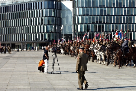 WARSAW, POLAND. 6 SEPTEMBER 2014.Ceremonial guard during celebrations of the Polish Armed