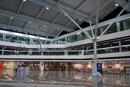 warsaw chopin: WARSAW, Poland. 24 May 2015 Airport interior at Warsaw Chopin airport. Editorial