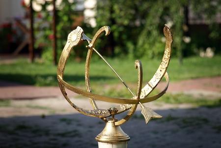 reloj de sol: sundial Foto de archivo