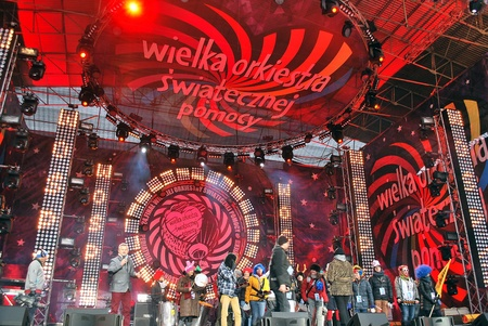 Warsaw, Poland. 10 January 2016 WOSP. Concert at the charity campaign of the Great Orchestra of Christmas Charity. Jurek Owsiak