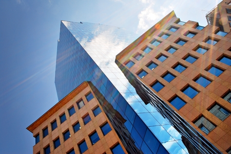 prestigious: Warsaw, Poland. 20 April 2017. Building Moniuszko 1A is situated in a prominent and prestigious location within Warsaws CBD. The building has an easy access to the other parts of the city,