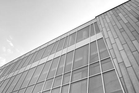 Bureau moderne de bureau noir et blanc banque d images et photos