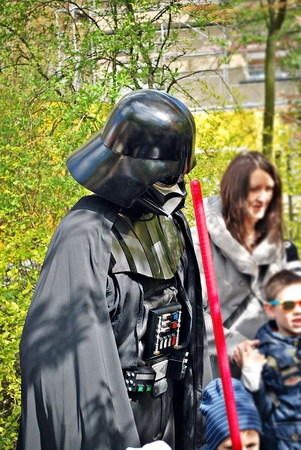 Warsaw, Poland. 1 May 2017. The Star Wars Day. People in costume for the Star Wars Which marks the start of the Star Wars Day