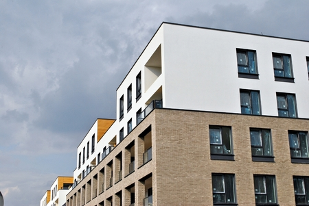outdoor lighting: Modern, Luxury Apartment Building