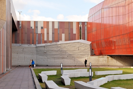 Warsaw, Poland. 27 March 2017. Planetarium (Heavens Of Copernicus) at the Copernicus Science Center,