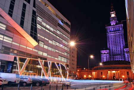 Warsaw, Poland. 13 March 2017. Zlota 44 will be a spectacular skyscraper in the center of Warsaw - and is set to become one of the landmarks of Polish capital. This luxury tower at Zlota street.