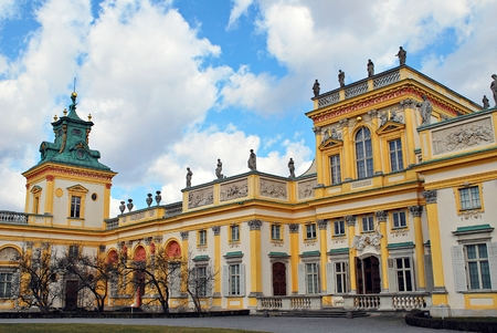 Warsaw, Poland. 15 March 2017. Wilanow Palace is a royal palace located in the Wilanow district