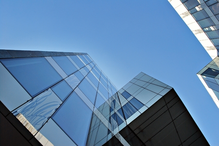 Modern office building. Architectural details of modern building.