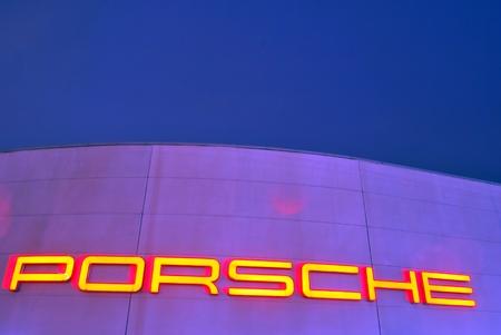 Warsaw, Poland. 24 February 2017. Porsche Center Warsaw. Porsche in show room.