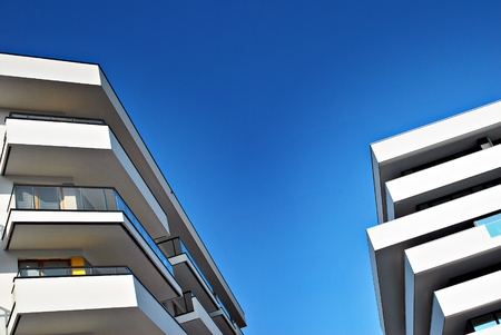 apartment: Modern apartment buildings exteriors Stock Photo
