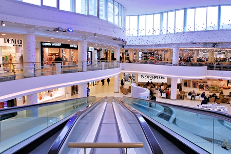Warsaw, Poland. February 5, 2017. Cliff Center is the largest shopping & entertainment center. Editorial