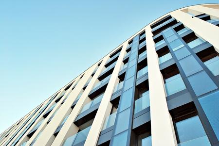 stone lion: Modern apartment buildings exteriors Stock Photo