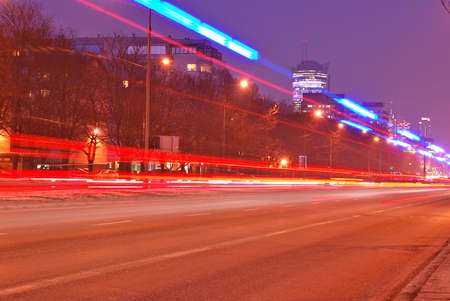 the light trails